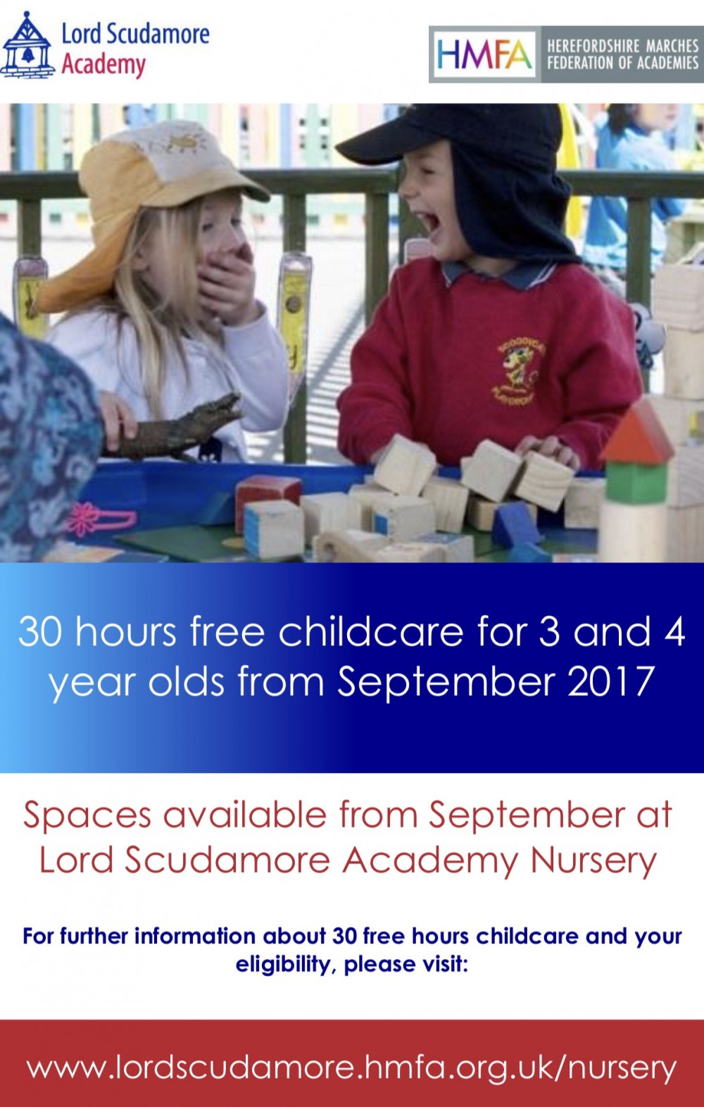 30 Free Hours Childcare at Lord Scudamore Academy Hereford